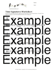 Time Signatures Worksheet | Music | Children