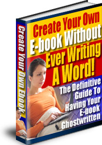 Create Your Ebook Without Writing A Word | eBooks | Education