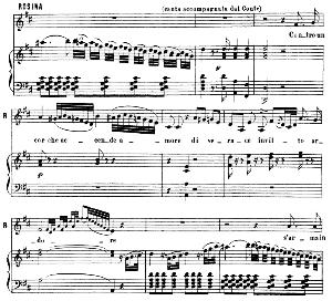 Contro un cor che accende amore. Aria for Mezzo (Rosina). G. Rossini: Il barbiere di Siviglia. Vocal Score. Ed. Ricordi. 1869 (PD). Italian. | eBooks | Sheet Music