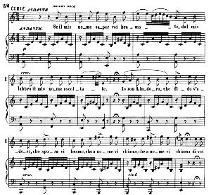 Se il mio nome saper bramate. Aria for Tenor (Conte). G. Rossini: Il barbiere di siviglia (The barber of Seville). Vocal Score. Ed. Ricordi, 1869 (PD). Italian. | eBooks | Sheet Music