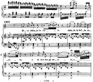 Ecco ridente in cielo. Aria for Tenor (Conte). G. Rossini: Il barbiere di Siviglia (The Barber of Seville). Vocal Score. Ed. Ricordi 1869 (PD).Italian. | eBooks | Sheet Music