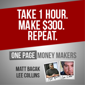 one page money makers1