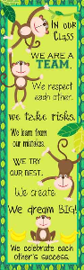 monkeys - banner x-large / in our class