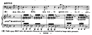 A un dottor della mia sorte. Aria for Bass (Bartolo). G. Rossini: Il barbiere di Siviglia (The barber of Seville) Vocal Score. Ed. Ricordi. 1869 (PD). Italian. | eBooks | Sheet Music
