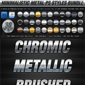 30 best 3d minimalistic metal photoshop styles