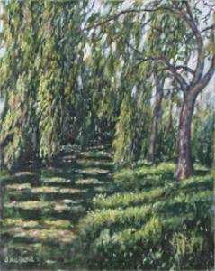 original painting, print, monets' path