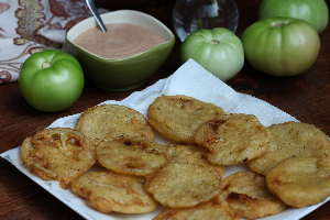 green fried tomatoes maid simple