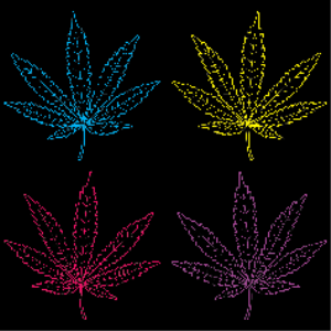 Neon Colored Marijuana Leaves | Photos and Images | Miscellaneous