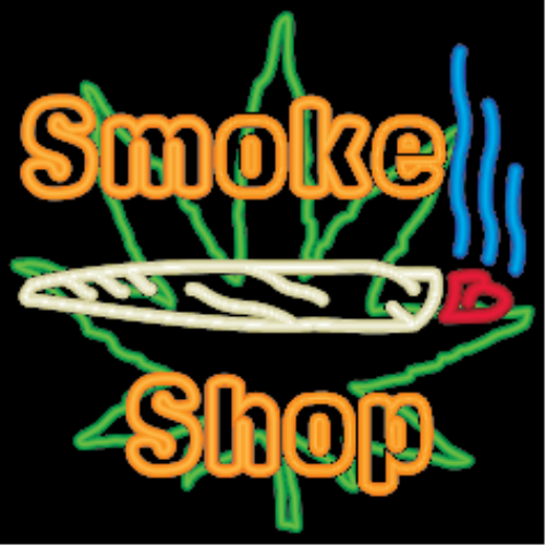 First Additional product image for - Neon Marijuana Smoke Shop