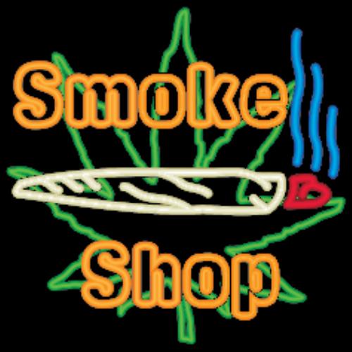 First Additional product image for - Neon Marijuana Smoke Shop