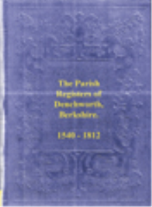 the parish registers of denchworth