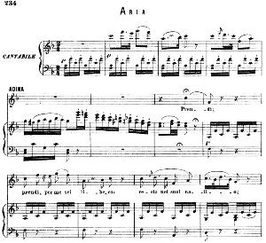 Prendi, per me sei libero : Aria for Soprano (Adina). G. Donizetti: L'elisir d'amore, Vocal Score, Ed. Ricordi (1869). Italian). | eBooks | Sheet Music
