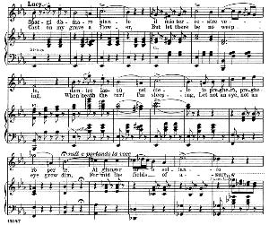 Spargi d'amaro pianto: Soprano Aria (Lucia). G. Donizetti: Lucia di lamermoor, Vocal Score, Ed. Schirmer (1898). Italian/English | eBooks | Sheet Music