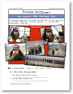 Forrest Gump, RUN FORREST RUN, Short-Sequence English (ESL) Lesson | eBooks | Education