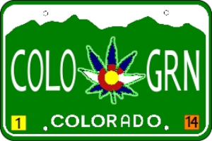 Colorado Marijuana License Plate | Photos and Images | Miscellaneous