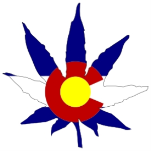 Colorado Stae Flag Marijuana Leaf | Photos and Images | Miscellaneous