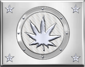 Stamped Metal Marijuana Leaf | Photos and Images | Miscellaneous