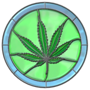 Stained Glass Marijuana Leaf | Photos and Images | Miscellaneous