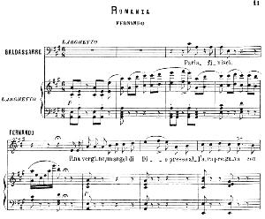 Una vergine, una angel di Dio: Romance for Tenor (Fernando). G. Donizetti: La favorita, Vocal Score, Ed. Ricordi (1879). PD. Italian.   eBooks   Sheet Music