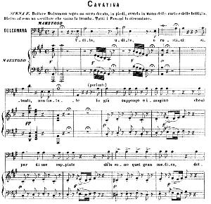 Udite, udite, o rustici Cavatina for Bass (Dulcamara). G. Donizetti: L'elisir d'amore. Vocal Score, Ed. Ricordi (1869). PD. Italian | eBooks | Sheet Music