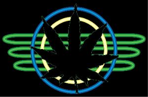 Neon Marijuana Leaf | Photos and Images | Miscellaneous