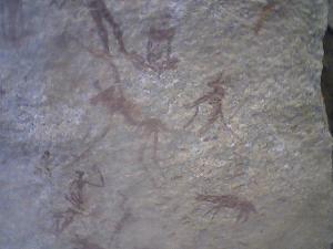 rare 2000 year old bushman paintings on photo