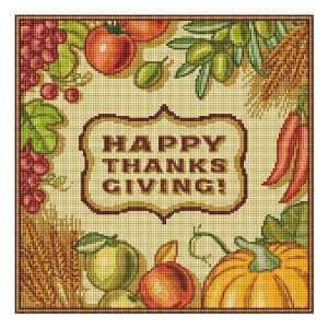 happy thanksgiving cross stitch chart