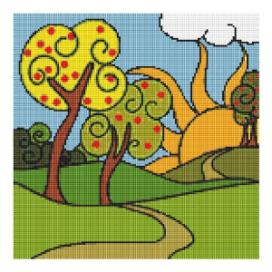 the sun is rising cross stitch chart