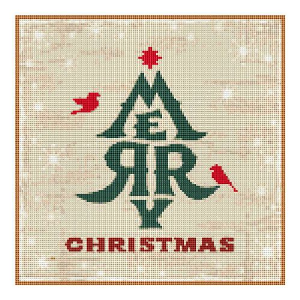merry christmas! cross stitch chart
