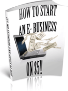 How To start An E-Business On $5! | eBooks | Business and Money