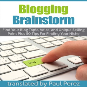 blogging brainstorm:   find your blog topic, voice and usp