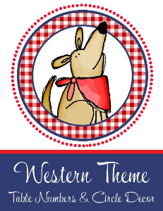 western - table numbers / circle decor