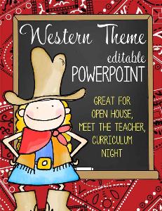 western - powerpoint / editable