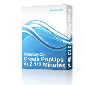Create PopUps in 2 1/2 Minutes | Audio Books | Internet
