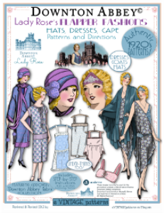 Lady Rose's FLAPPER FASHIONS-DowntonAbbeyEd-Bklet 1920's Fashions PATTERNS | eBooks | Arts and Crafts