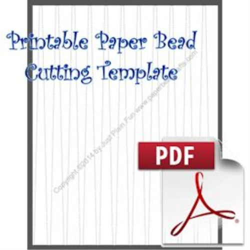 First Additional product image for - Paper Bead Cutting Template, 5/8w x 1/8n x 8-1/2 Long Strip to Make 5/8 Tapered Beads