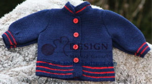 DollKnittingPatterns - 2014 Weihnachtsgruss - Jacke (Deutsch) | Crafting | Knitting | Baby and Child