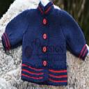 DollKnittingPatterns - 2014 Weihnachtsgruss - Jacke (Deutsch) | Crafting | Knitting | Baby and Child