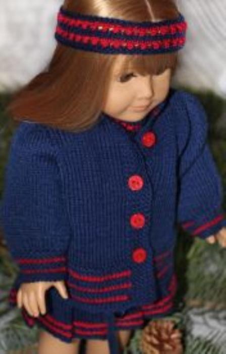 First Additional product image for - DollKnittingPatterns - 2014 Kerstmis Groetjes - Jasje (Nederlands)