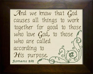 God Causes All Things | Crafting | Cross-Stitch | Religious