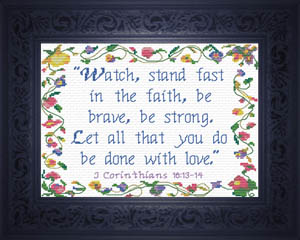 Stand Fast in the Faith | Crafting | Cross-Stitch | Religious