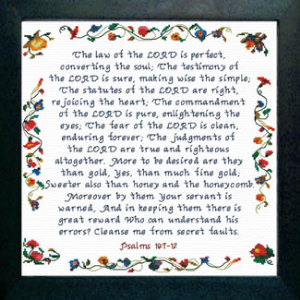 The Law of the LORD | Crafting | Cross-Stitch | Religious