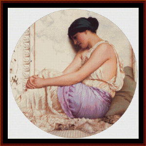 A Grecian Girl - Godward cross stitch pattern by Cross Stitch Collectibles | Crafting | Cross-Stitch | Wall Hangings