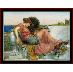 Amaryllis, 1903 - Godward cross stitch pattern by Cross Stitch Collectibles | Crafting | Cross-Stitch | Wall Hangings
