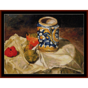 Still Life with Earthenware - Cezanne cross stitch pattern by Cross Stitch Collectibles | Crafting | Cross-Stitch | Wall Hangings