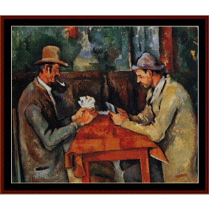 The Card Players II - Cezanne cross stitch pattern by Cross Stitch Collectibles | Crafting | Cross-Stitch | Wall Hangings