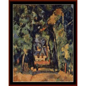 Alley at Chantilly - Cezanne cross stitch pattern by Cross Stitch Collectibles | Crafting | Cross-Stitch | Other