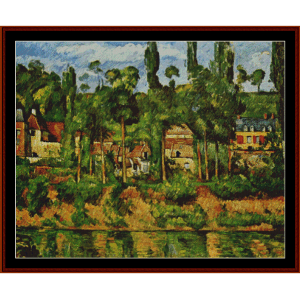 Chateau Demedan - Cezanne cross stitch pattern by Cross Stitch Collectibles | Crafting | Cross-Stitch | Wall Hangings