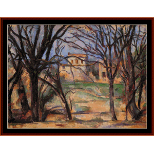 Trees and Houses - Cezanne cross stitch pattern by Cross Stitch Collectibles | Crafting | Cross-Stitch | Other
