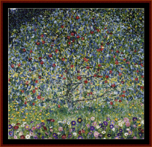 Apple Tree II - Klimt cross stitch pattern by Cross Stitch Collectibles | Crafting | Cross-Stitch | Wall Hangings